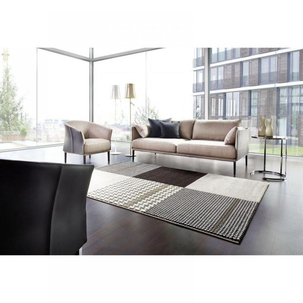 tapis de sol meubles et rangements maison tapis patchwork marron taupe 160x230 cm inside75. Black Bedroom Furniture Sets. Home Design Ideas