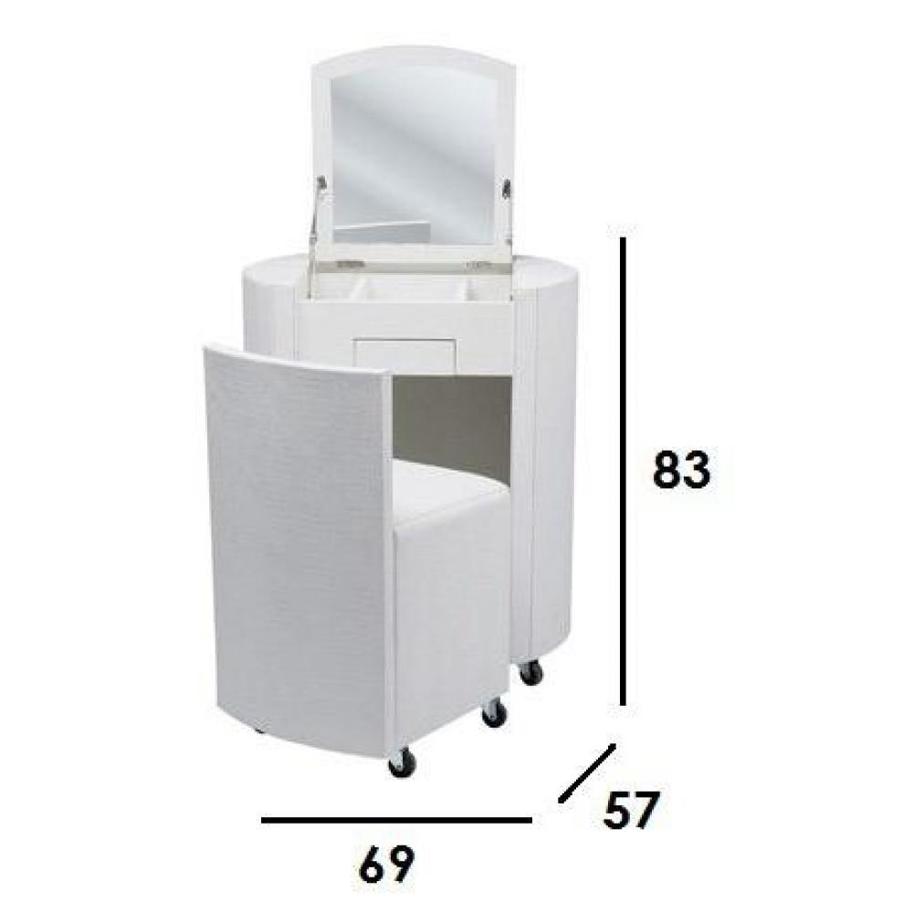 Consoles meubles et rangements coiffeuse evy blanc cass inside75 for Coiffeuse meuble blanc