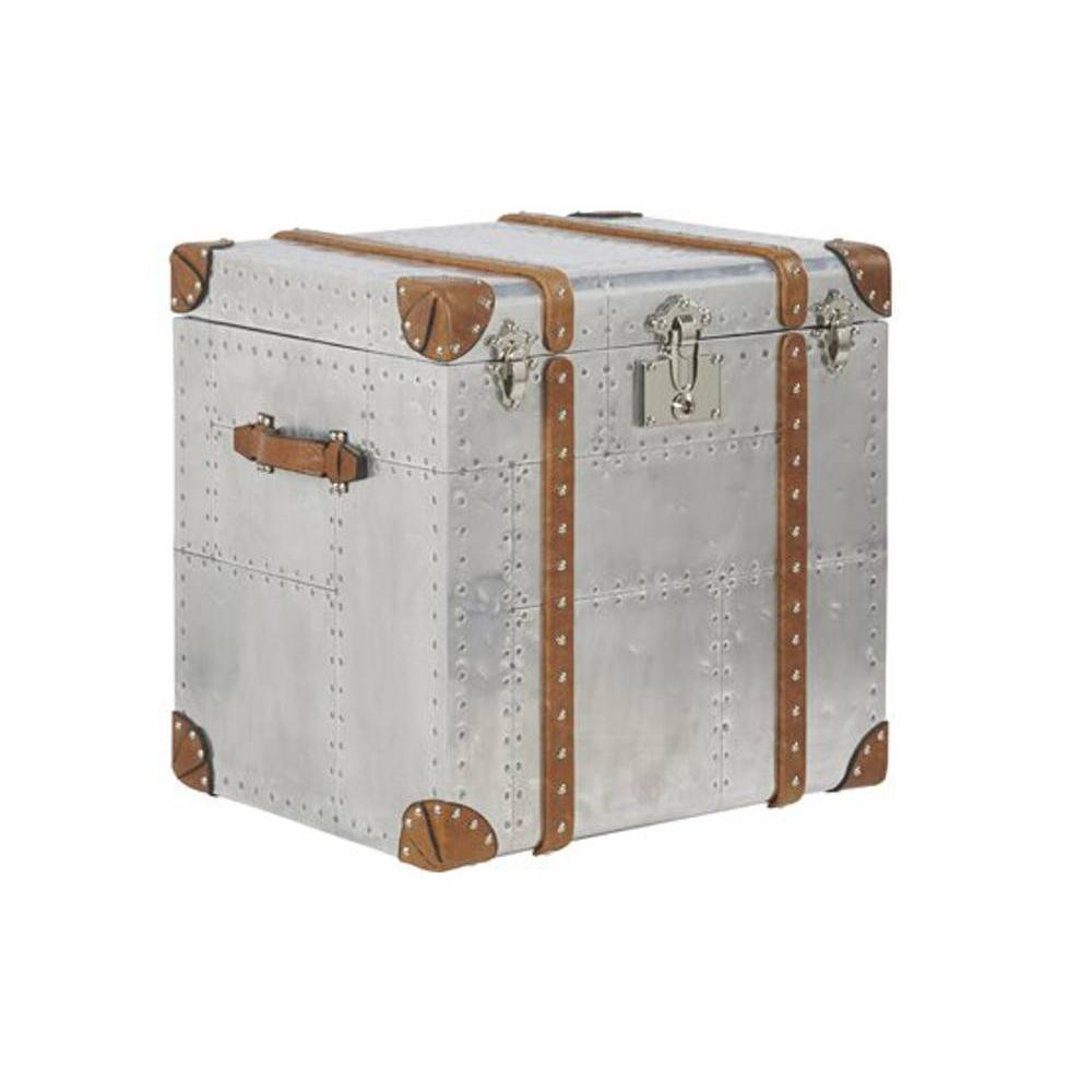 Malles meubles et rangements malle en aluminium petit - Malle de rangement deco ...