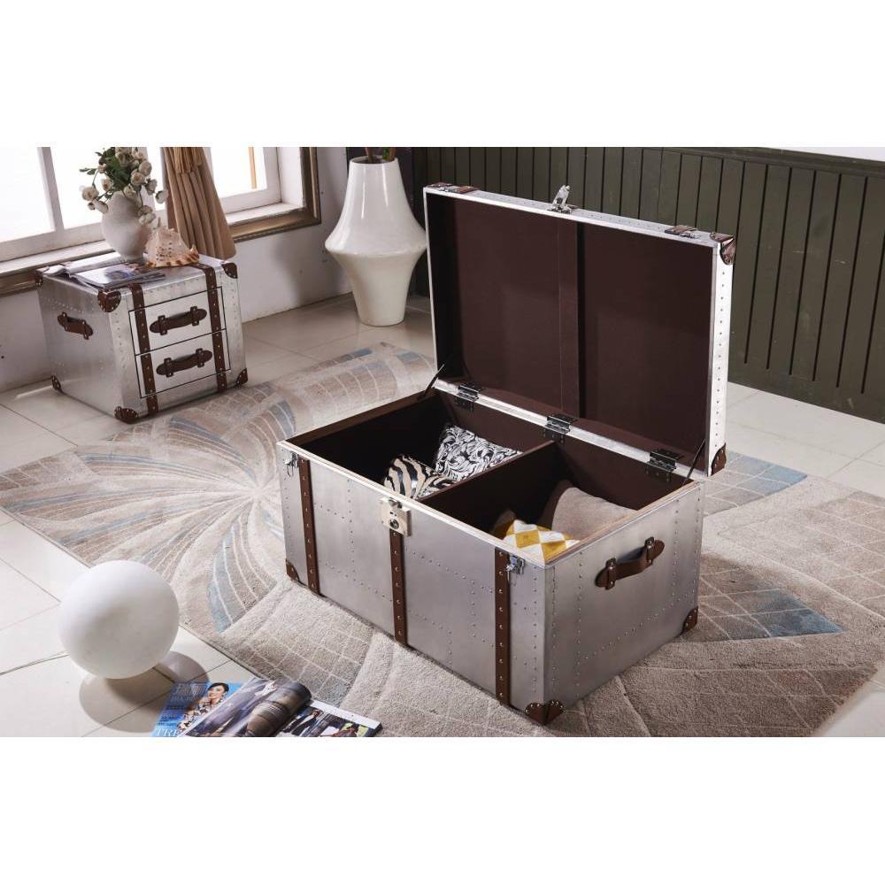 malles meubles et rangements malle en aluminium grand mod le air plane aviateur inside75. Black Bedroom Furniture Sets. Home Design Ideas
