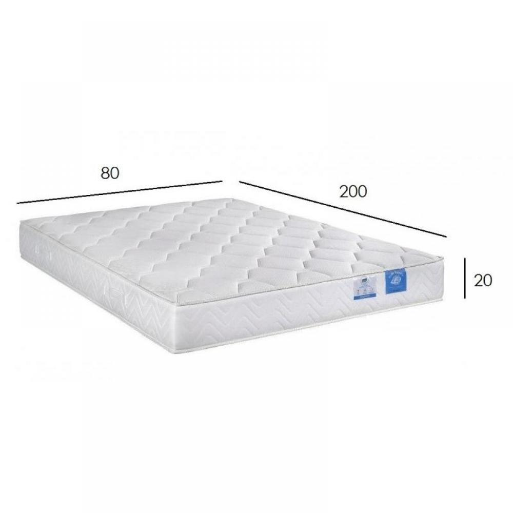 chambre literie matelas 80 200 cm belle literie paisseur 20 cm inside75. Black Bedroom Furniture Sets. Home Design Ideas