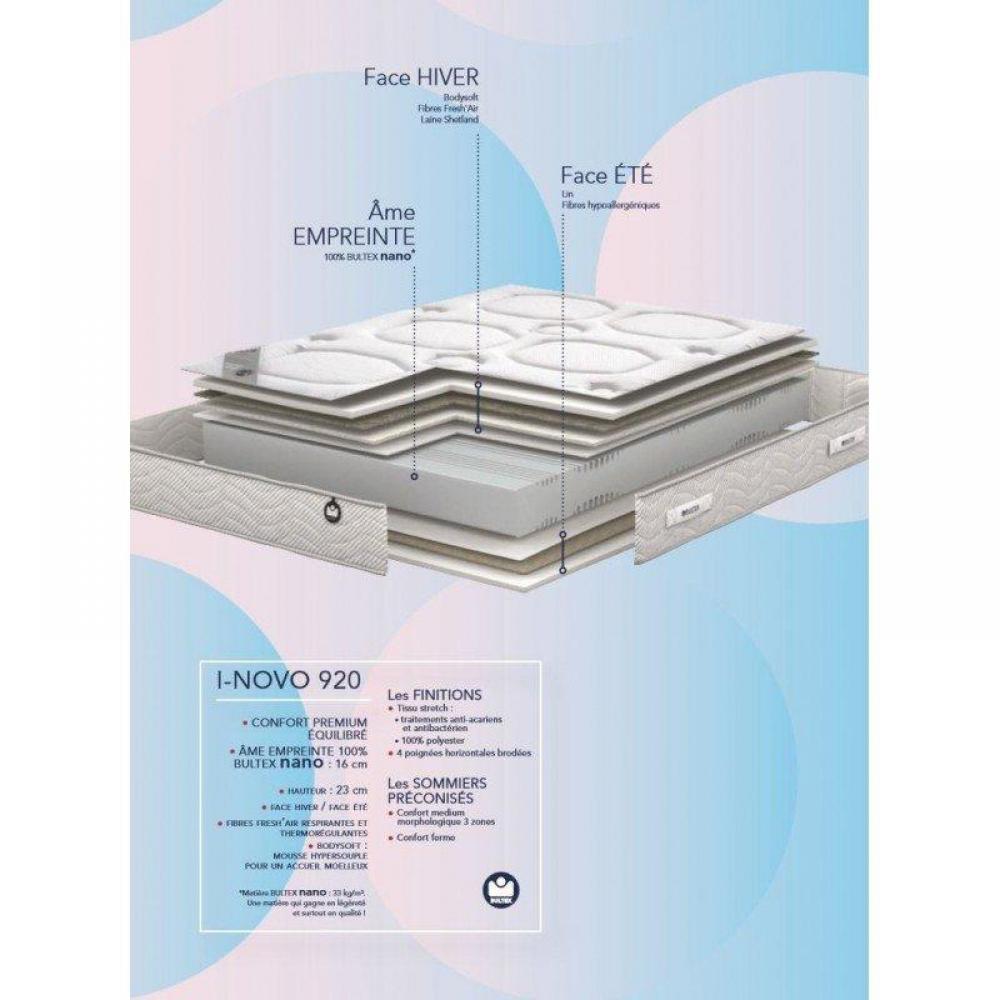 matelas chambre literie bultex matelas 110 190cm i novo 921 paisseur 23cm inside75. Black Bedroom Furniture Sets. Home Design Ideas