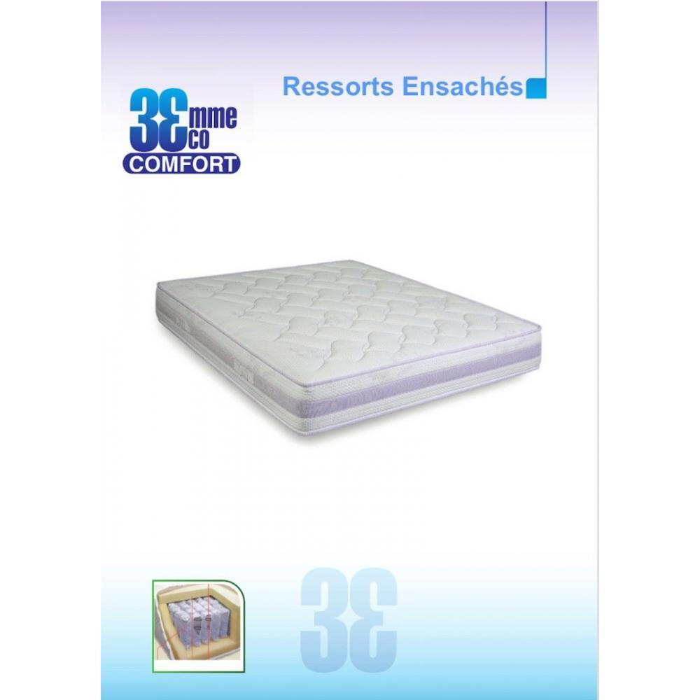Matelas Eco-Confort Ressorts Ensaches 7 Zones couchage 80*190cm épaisseur 23cm
