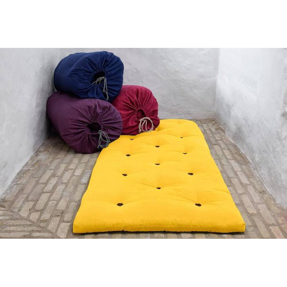 chaises meubles et rangements matelas futon d 39 appoint jaune bed in a bag couchage 70 190 5cm. Black Bedroom Furniture Sets. Home Design Ideas