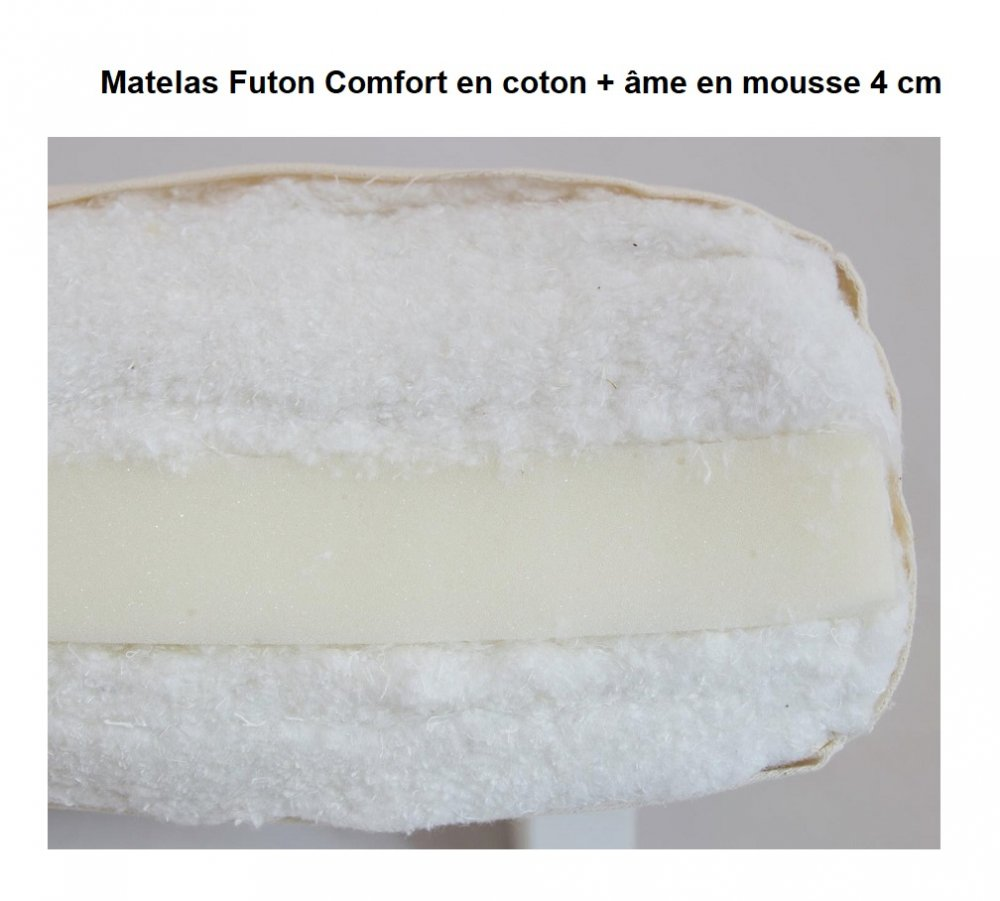 Matelas FUTON COMFORT taupe 120*200 cm épaisseur 15 cm.