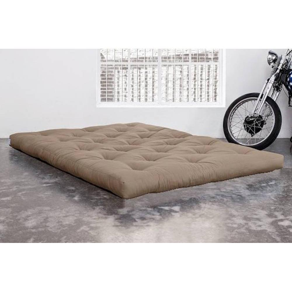 matelas chambre literie matelas futon traditionnel taupe 160 200cm inside75. Black Bedroom Furniture Sets. Home Design Ideas