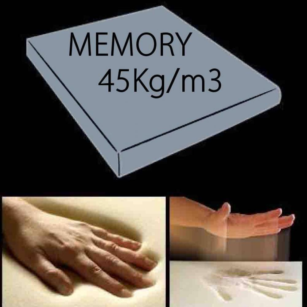 Matelas 140/18cm à mémoire de forme 45Kg/m3