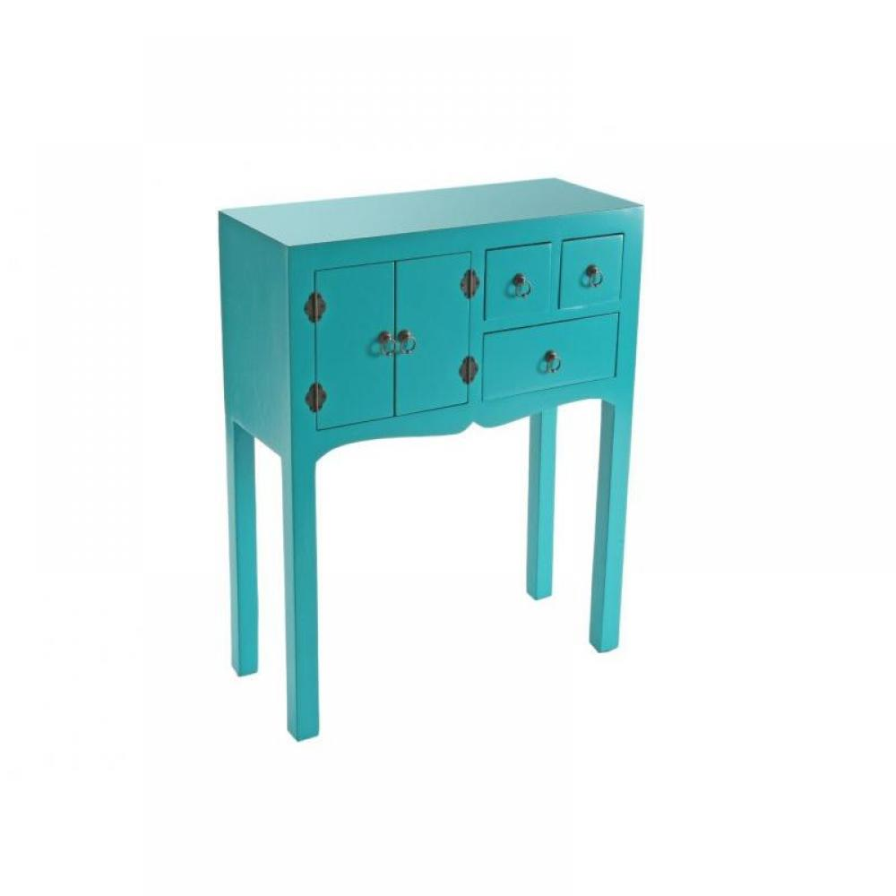console design ultra tendance au meilleur prix matmata petite console design turquoise en bois. Black Bedroom Furniture Sets. Home Design Ideas