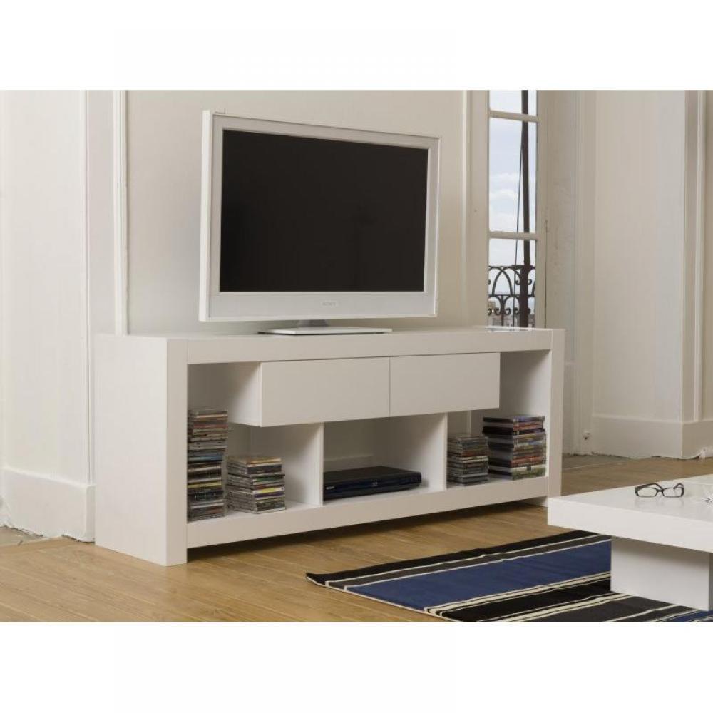 Meubles tv meubles et rangements temahome nara meuble tv laque blanc tiroirs design inside75 for Meuble design portugal