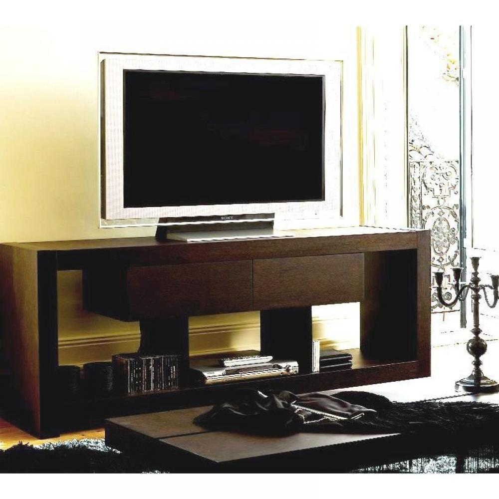 meubles tv meubles et rangements temahome nara meuble tv bois wenge tiroirs design inside75. Black Bedroom Furniture Sets. Home Design Ideas