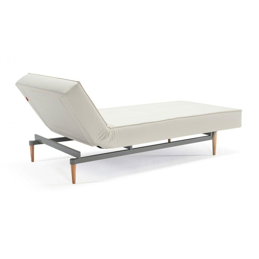 INNOVATION LIVING Meridienne design SPLITBACK LOUNGER convertible lit 100*200cm piétement fuseau chêne