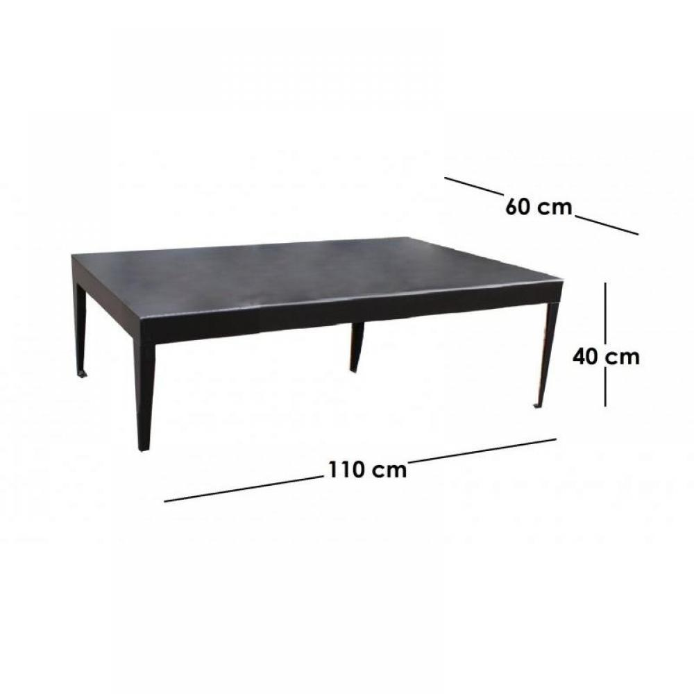 Tables basses meubles et rangements metallika table basse m tallique avec p - Table basse metallique ...
