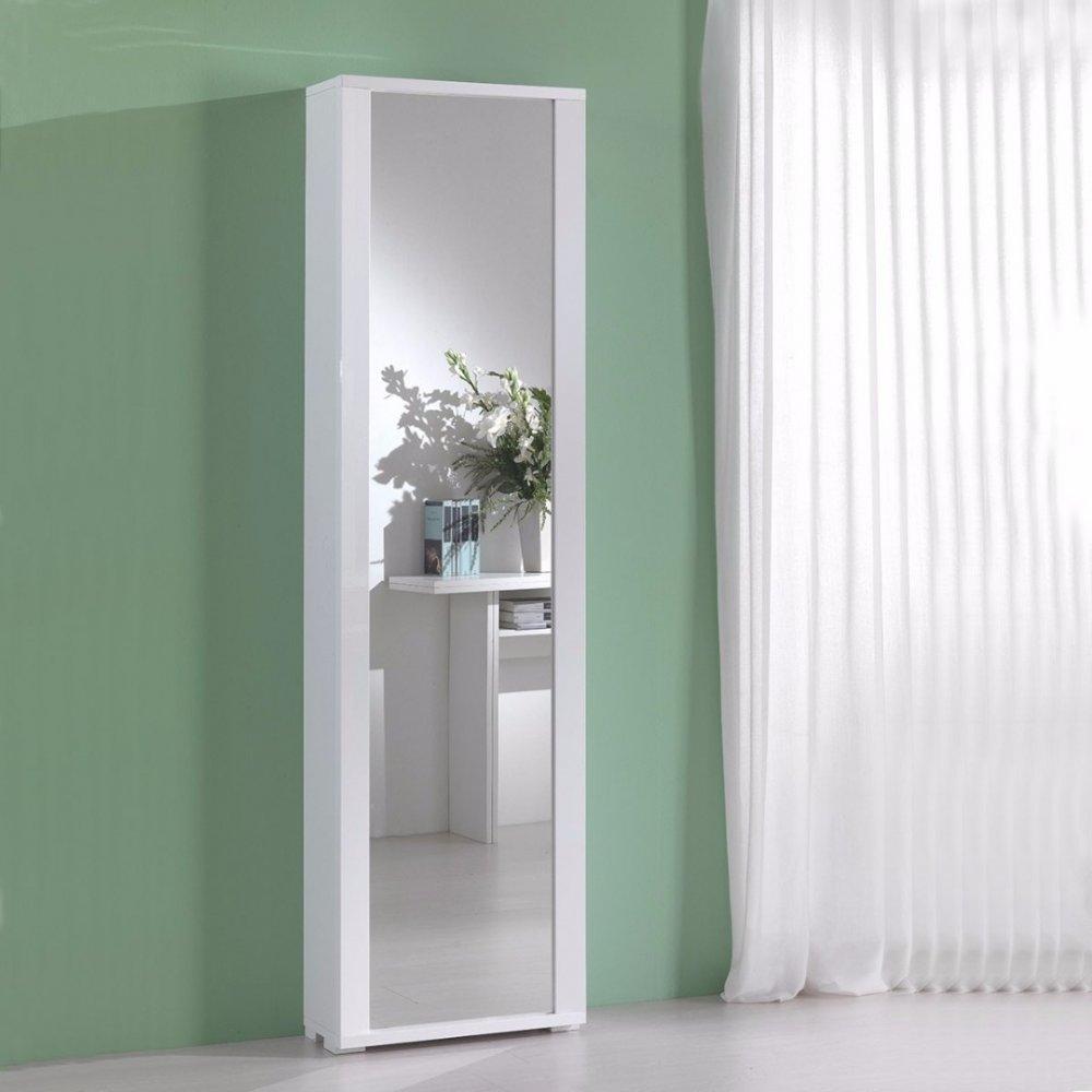 meubles chaussures meubles et rangements meuble chaussures millenium blanc avec porte miroir. Black Bedroom Furniture Sets. Home Design Ideas