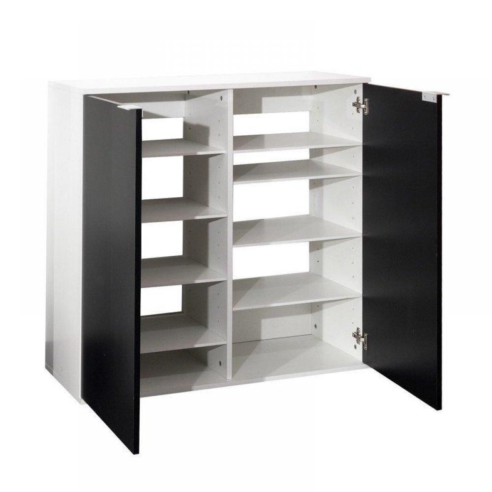 meubles chaussures meubles et rangements meuble chaussures class design blanche 2 portes. Black Bedroom Furniture Sets. Home Design Ideas