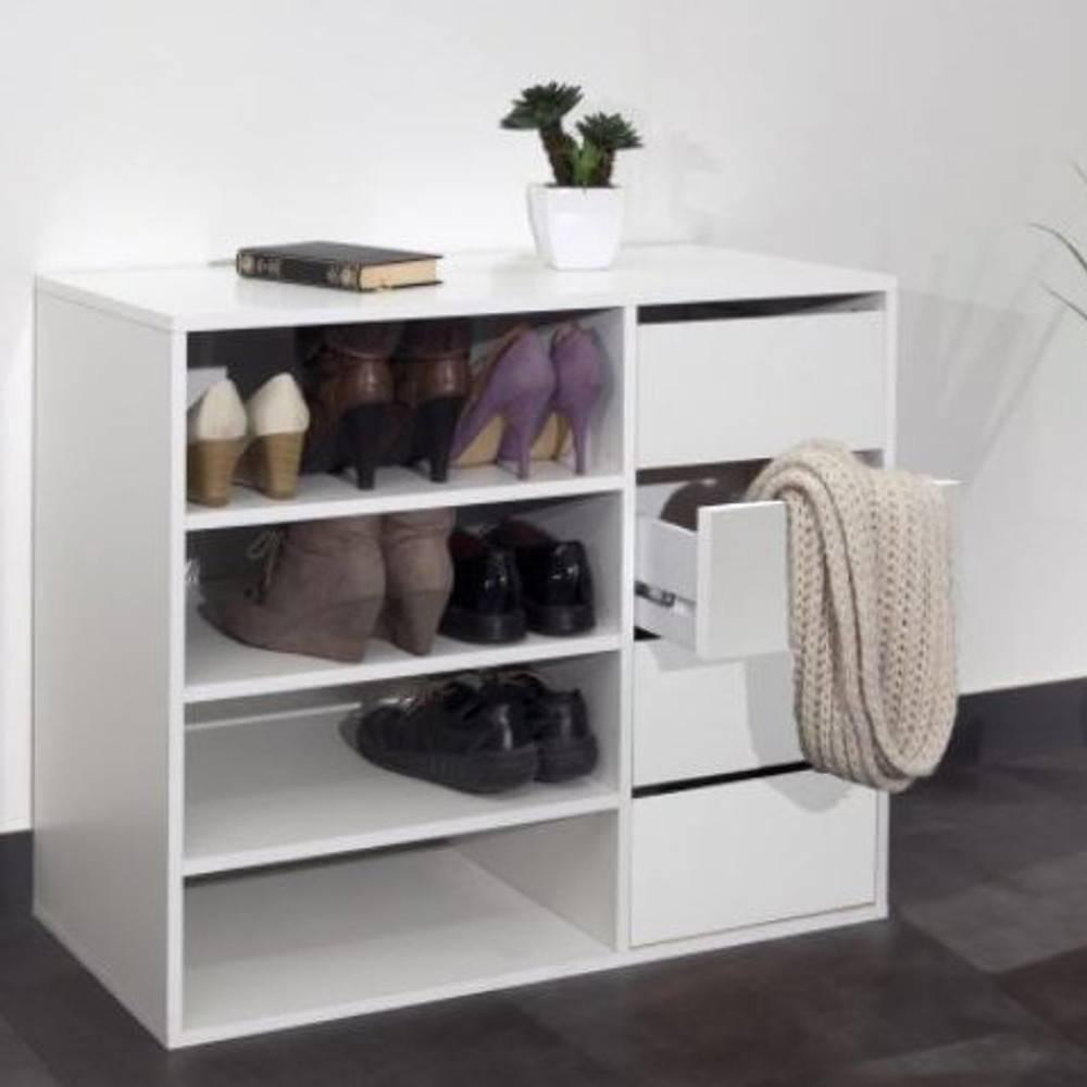 meubles chaussures meubles et rangements meuble chaussures mirage 4 tiroirs blanc inside75. Black Bedroom Furniture Sets. Home Design Ideas