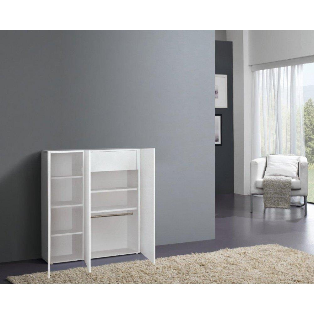 meubles chaussures meubles et rangements meuble chaussures vague blanc brillant 3 portes. Black Bedroom Furniture Sets. Home Design Ideas