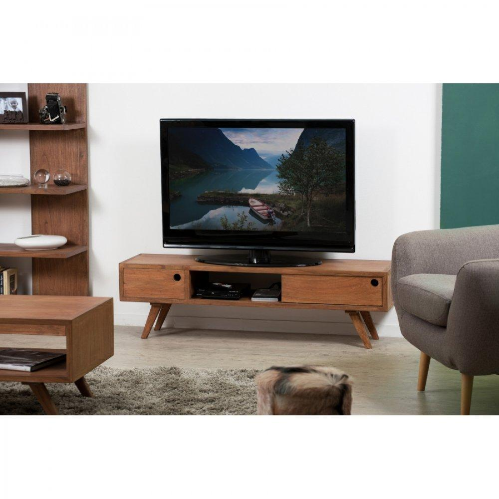 meubles tv meubles et rangements meuble tv 1 porte coulissante fancy en bois teinte naturelle. Black Bedroom Furniture Sets. Home Design Ideas