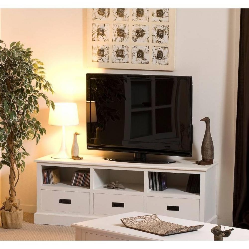 Meubles Tv Meubles Et Rangements Meuble Tv 3 Niches 3 Tiroirs  # Meuble Tv Campagne