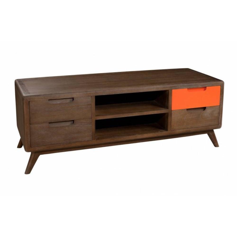 Meubles tv meubles et rangements meuble tv 4 tiroirs 2 for Meuble tv 2 tiroirs