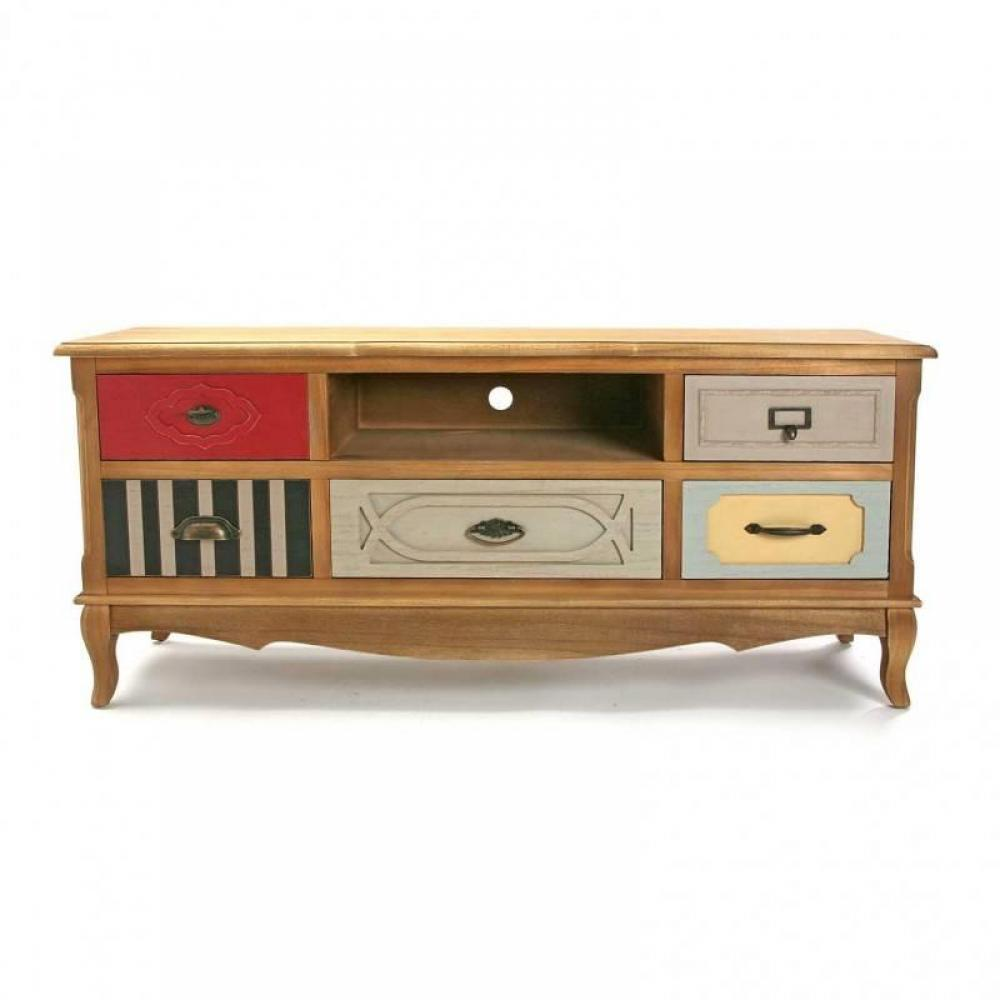 meubles tv meubles et rangements meuble tv barokia 3 tiroirs style baroque inside75. Black Bedroom Furniture Sets. Home Design Ideas