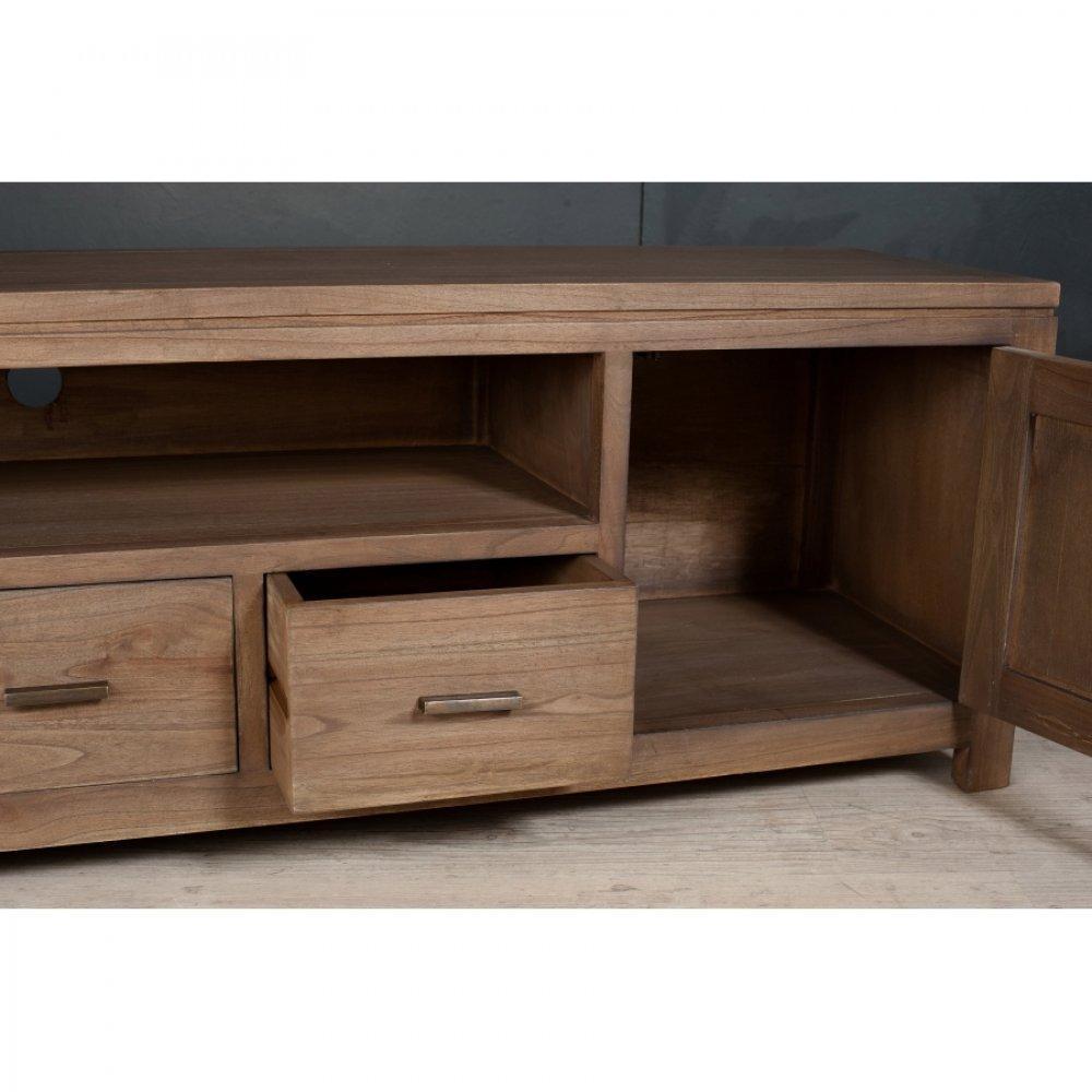 Meubles tv meubles et rangements meuble tv bas laura 3 for Meuble bas tv