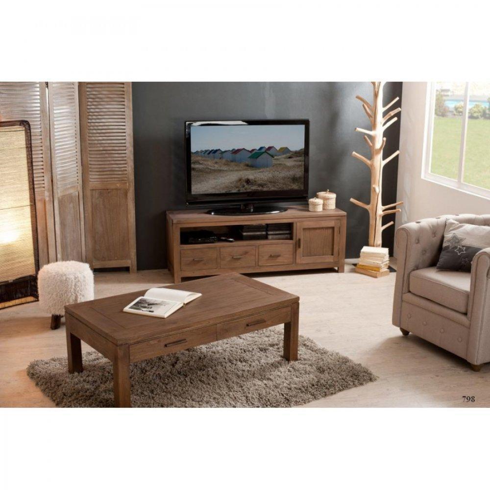 Meubles tv meubles et rangements meuble tv bas laura 3 for Meuble bas design salon