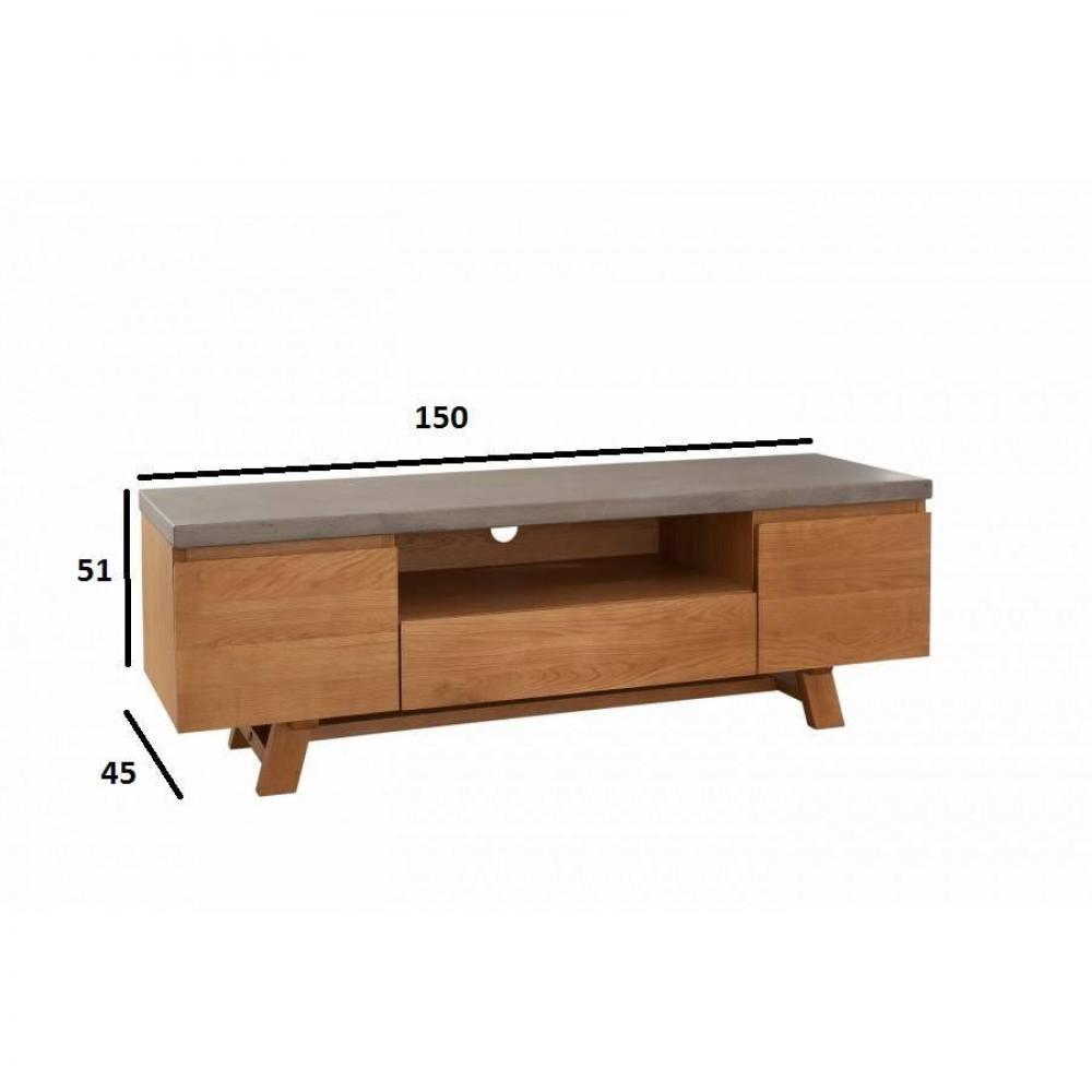 Meubles Tv Meubles Et Rangements Meuble Tv Design Industriel  # Meuble Tv Beton