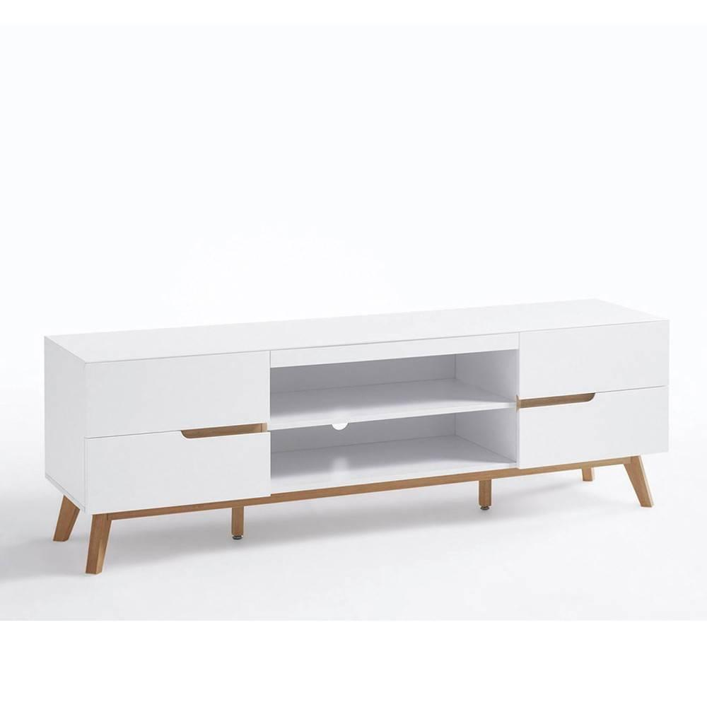 meubles tv meubles et rangements meuble tv style scandinave clement laqu blanc mat inside75. Black Bedroom Furniture Sets. Home Design Ideas