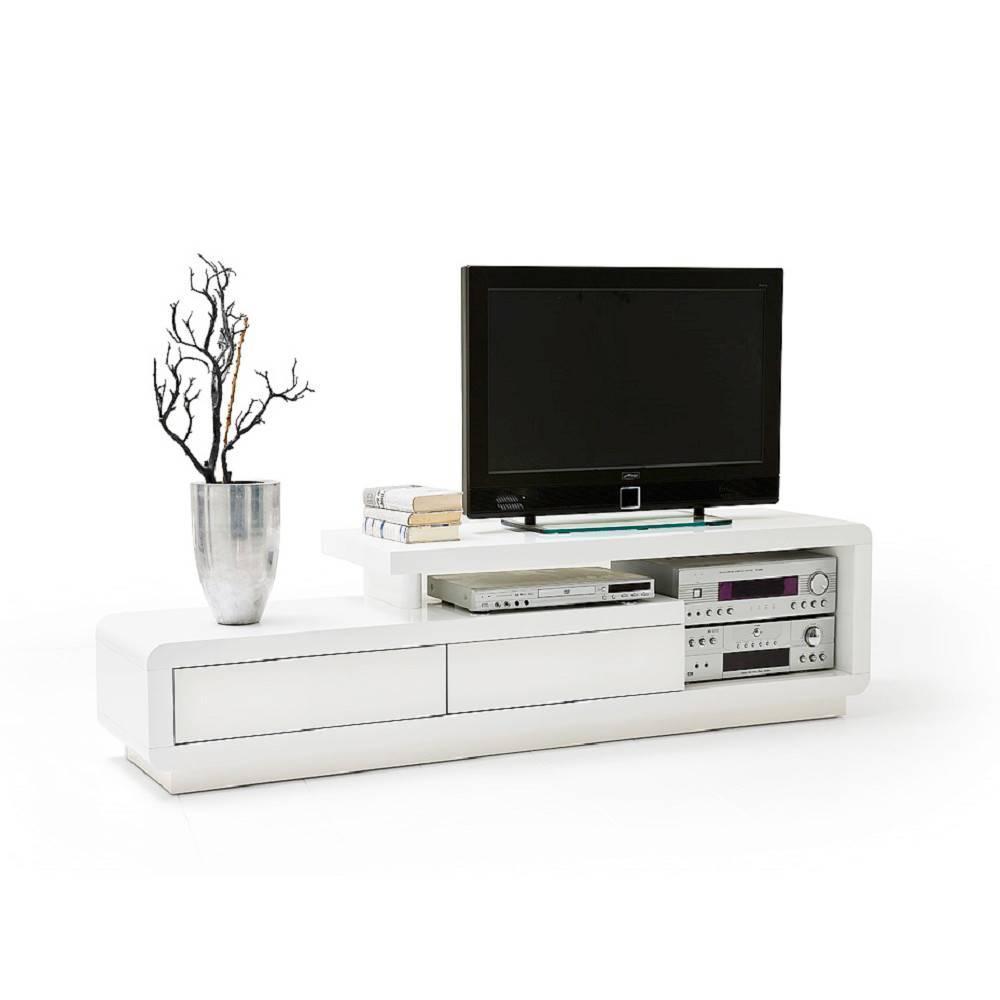 Meubles Tv Meubles Et Rangements Meuble Tv Design Corto 2  # Meuble Tele Design Laque Blanc