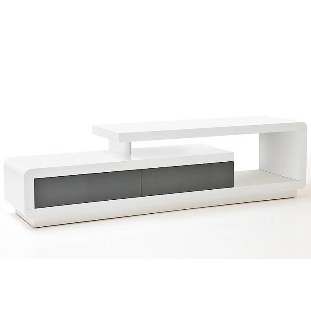 Meubles Tv Meubles Et Rangements Meuble Tv Design Corto 2  # Meuble Tv Laque Gris