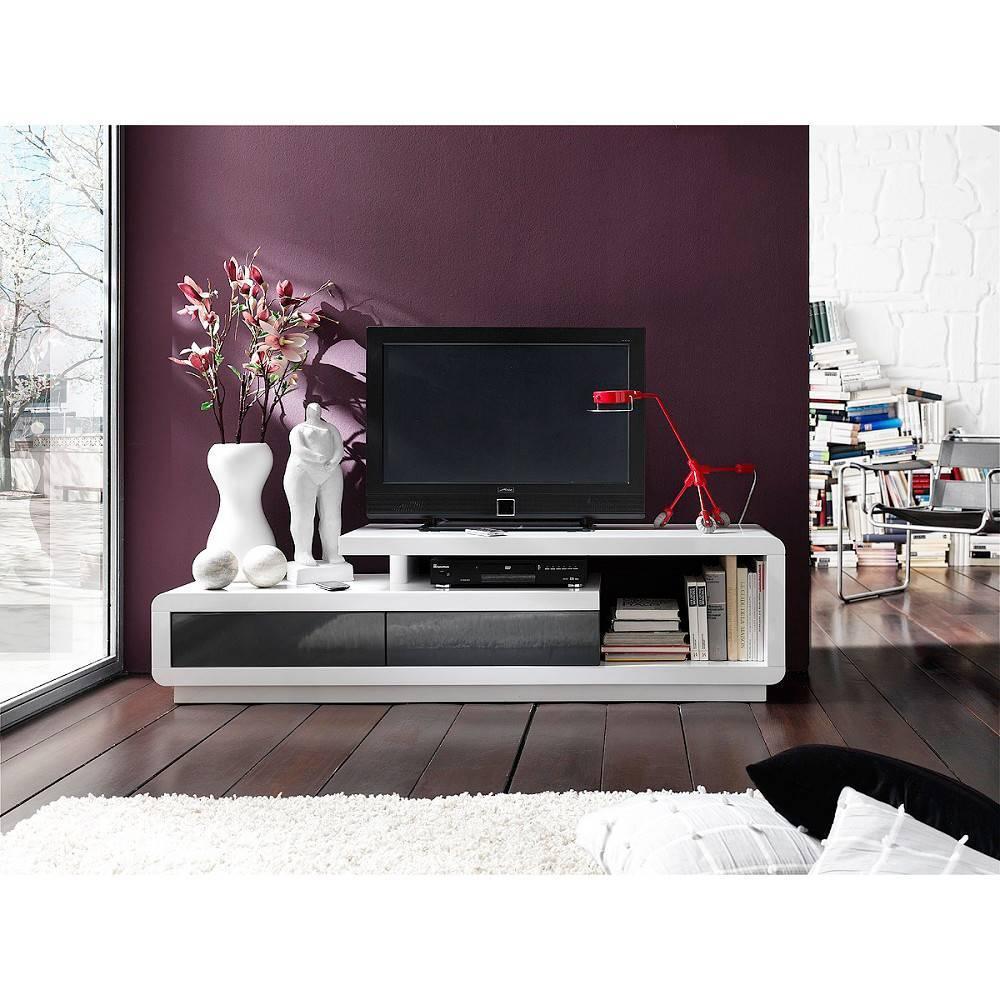 Meubles Tv Meubles Et Rangements Meuble Tv Design Corto 2  # Meuble Tv Gris Et Blanc