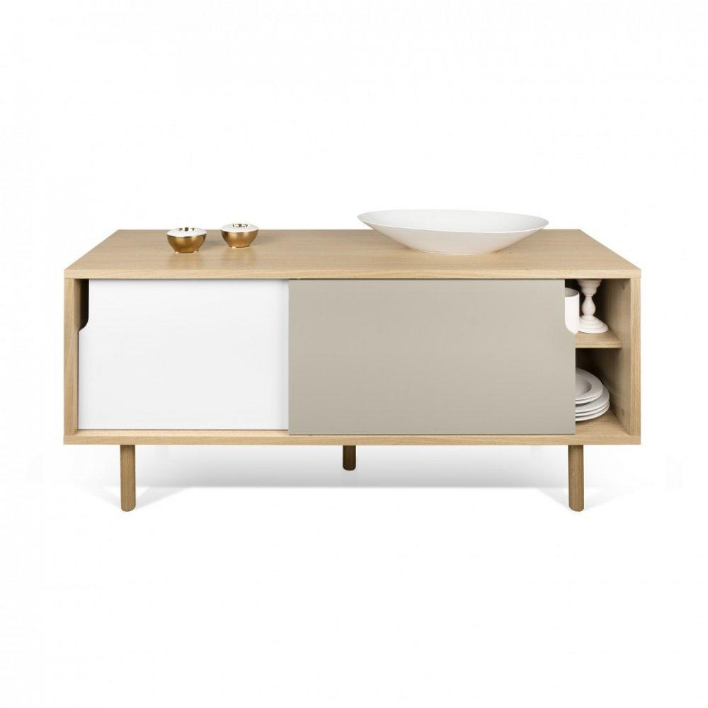 meubles tv meubles et rangements meuble tv dann ch ne avec 2 portes coulissantes gris taupe et. Black Bedroom Furniture Sets. Home Design Ideas