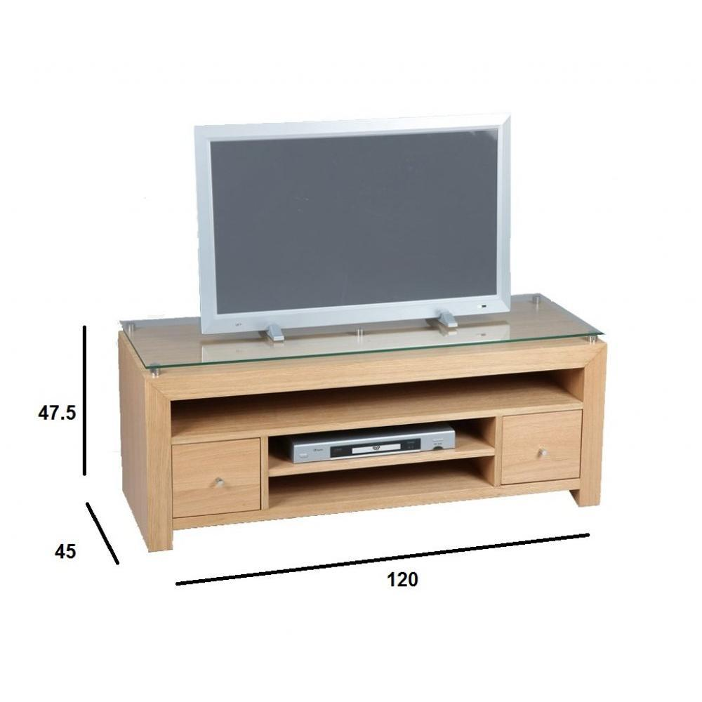 Meubles tv meubles et rangements meuble tv eoline ch ne for Meuble tv design chene