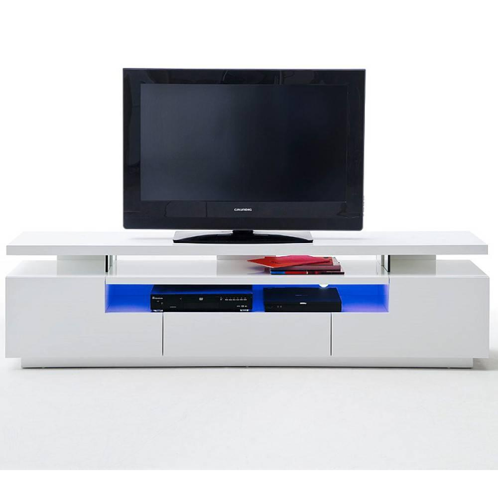 Meubles Tv Meubles Et Rangements Meuble Tv Design Elios 3  # Meuble Tv Blanc A Led