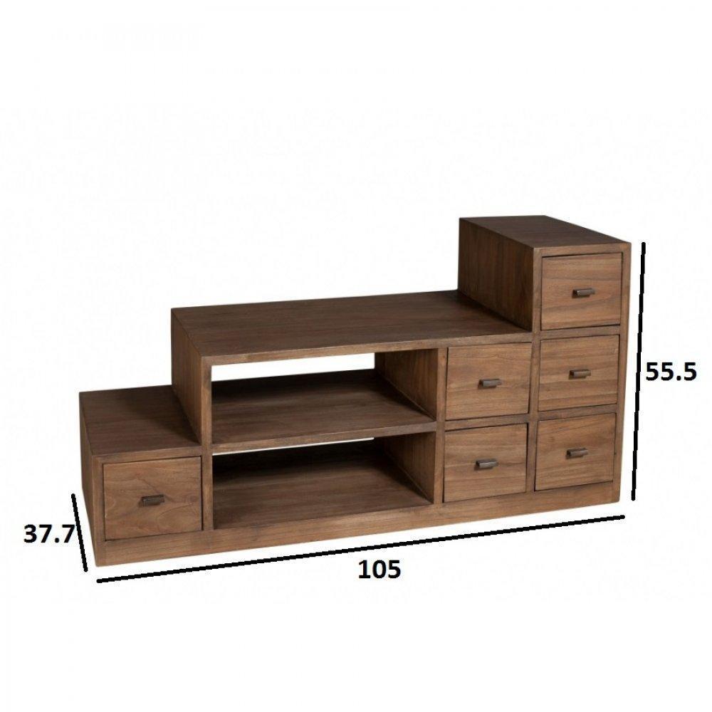 meubles tv meubles et rangements meuble tv escalier laura en midi style colonial inside75. Black Bedroom Furniture Sets. Home Design Ideas