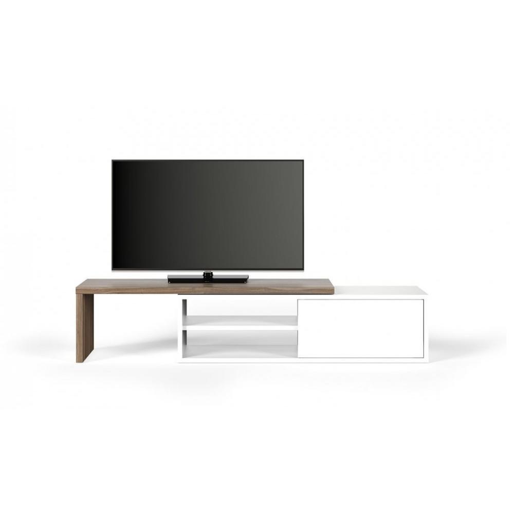 Meubles Tv Meubles Et Rangements Temahome Meuble Tv Modulable  # Meuble Tv Extensible Et Pivotant