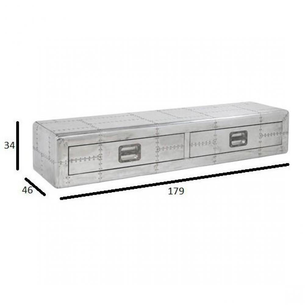 meubles tv meubles et rangements meuble tv en aluminium smooth inside75. Black Bedroom Furniture Sets. Home Design Ideas