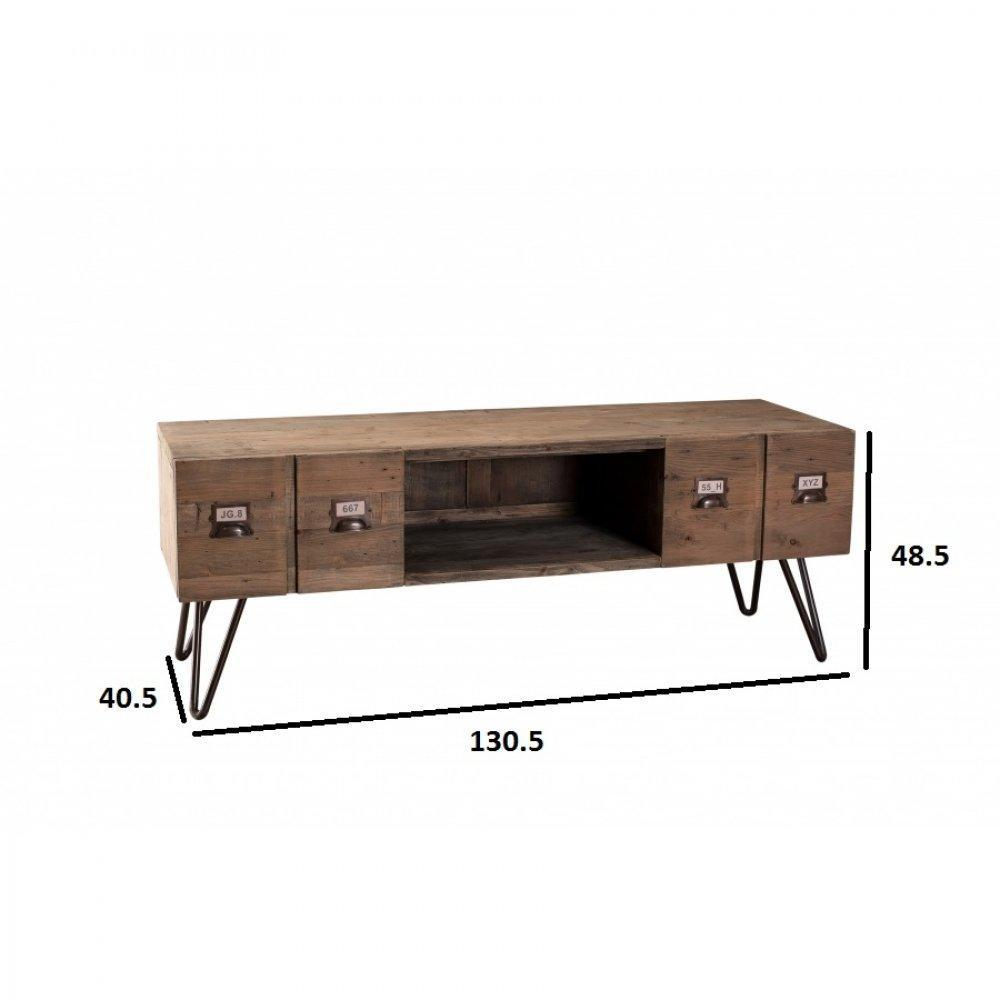 Meubles tv meubles et rangements meuble tv au style for Meuble tv 2 tiroirs