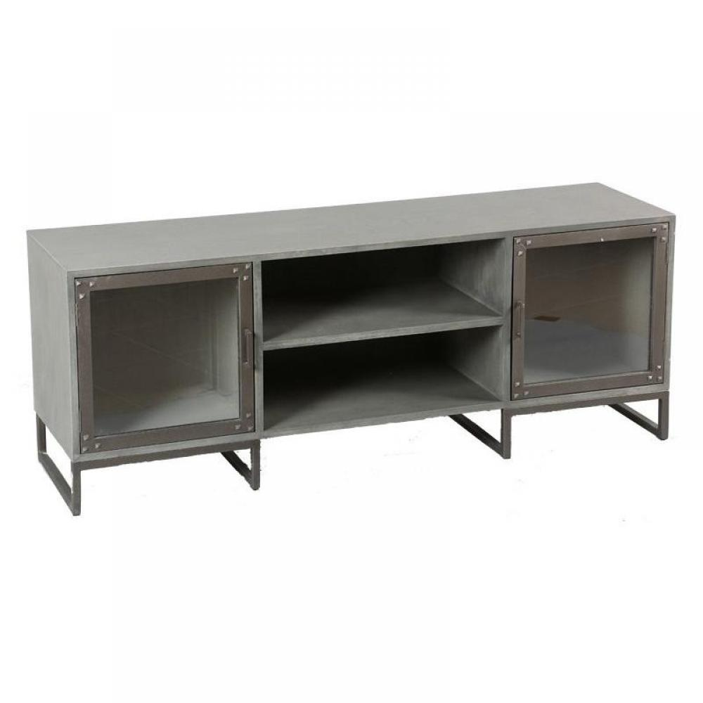 meubles tv meubles et rangements meuble tv industry c rus gris inside75. Black Bedroom Furniture Sets. Home Design Ideas