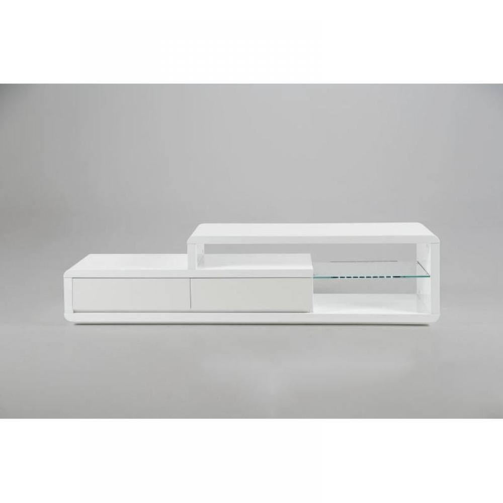 meubles tv, meubles et rangements, meuble tv laque blanc eran ... - Meuble Tele Blanc Design