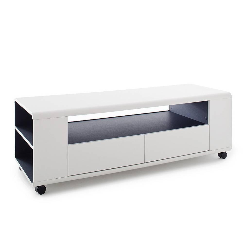 meubles tv meubles et rangements meuble tv chicago laque blanc mat roulettes inside75. Black Bedroom Furniture Sets. Home Design Ideas