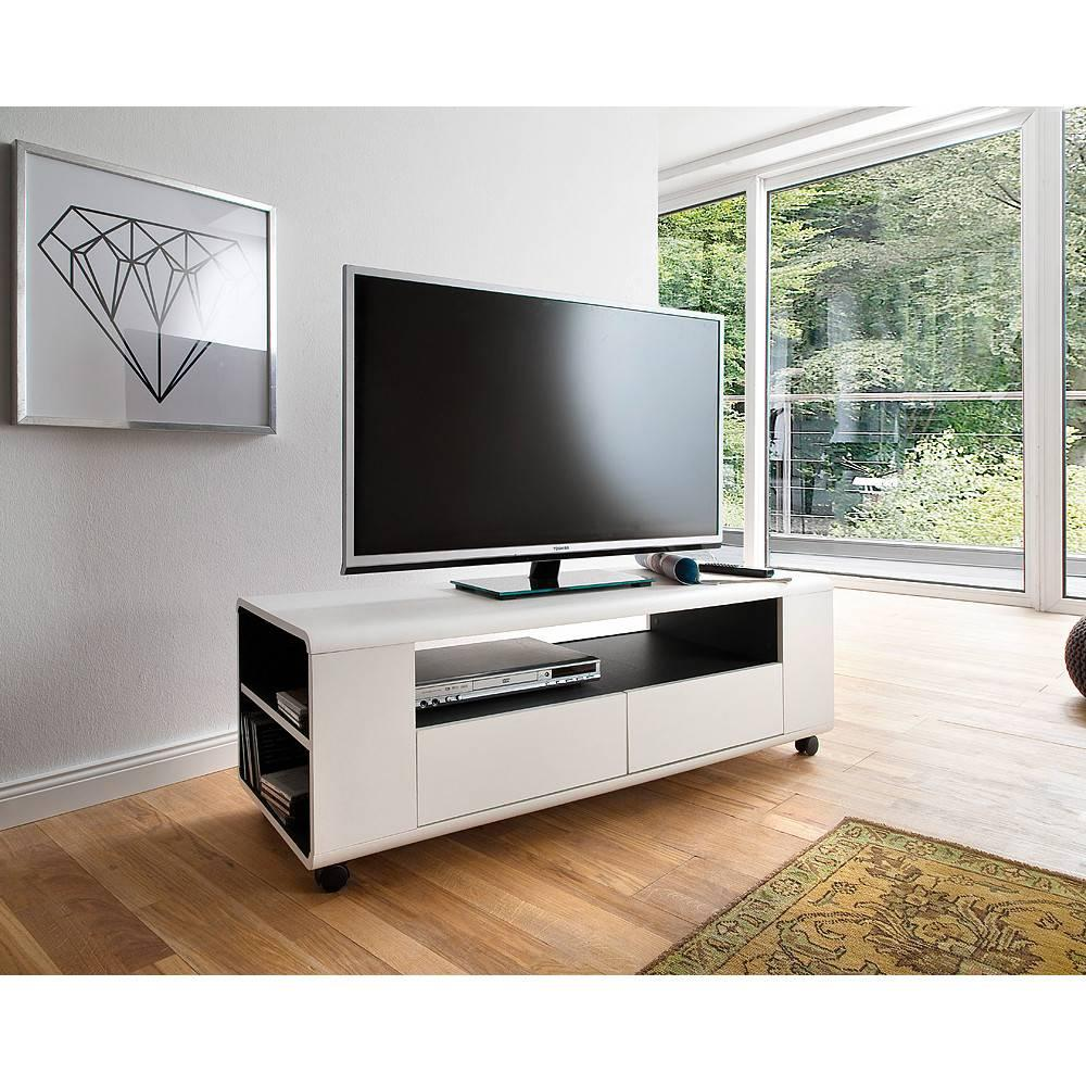 Meubles tv, meubles et rangements, Meuble TV CHICAGO laque blanc mat ...