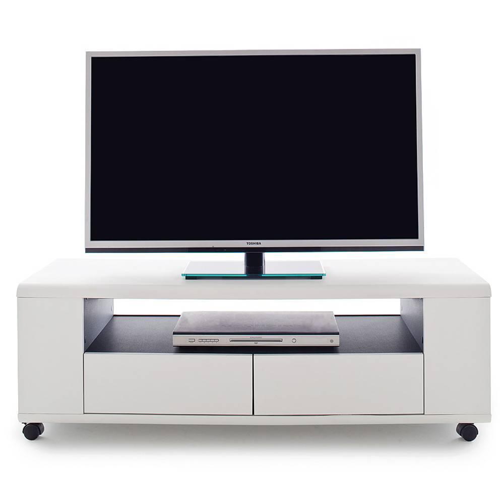 meubles tv meubles et rangements meuble tv chicago laque blanc mat roulettes inside75. Black Bedroom Furniture Sets. Home Design Ideas