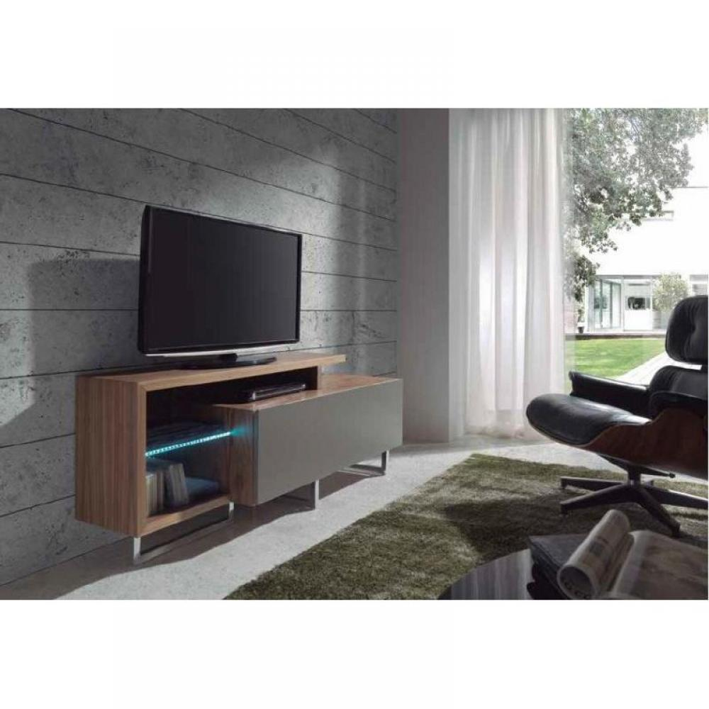 meubles tv meubles et rangements meuble tv forest noyer inside75. Black Bedroom Furniture Sets. Home Design Ideas