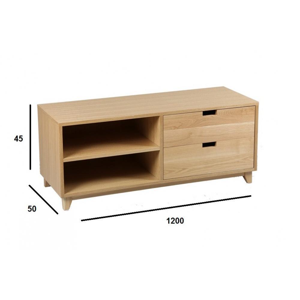 Meubles tv meubles et rangements meuble tv olga en ch ne for Meuble tv 2 m