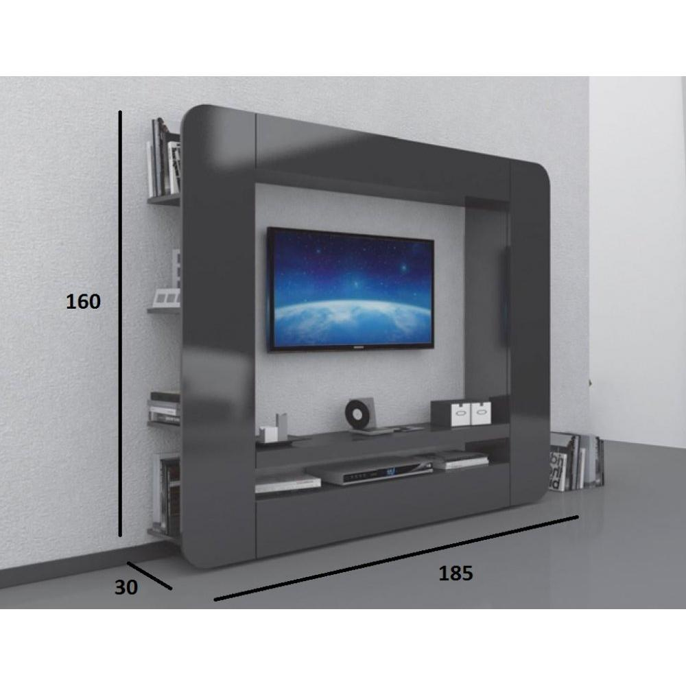 Ensemble mural tv meubles et rangements meuble design tv for Meuble tv 2 m