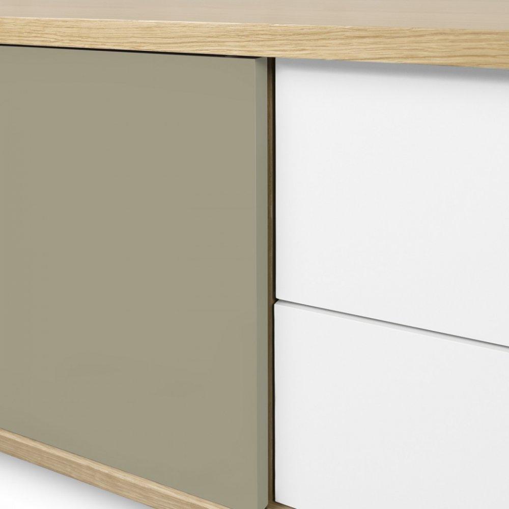 Meubles tv meubles et rangements temahome meuble tv dann for Meuble 2 portes coulissantes