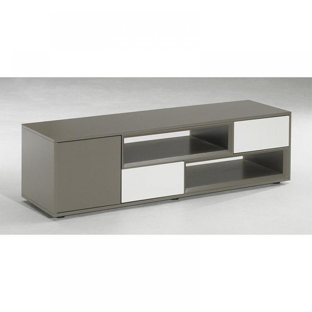 Meubles tv meubles et rangements meuble tv design sigma for Meuble tv blanc tiroir