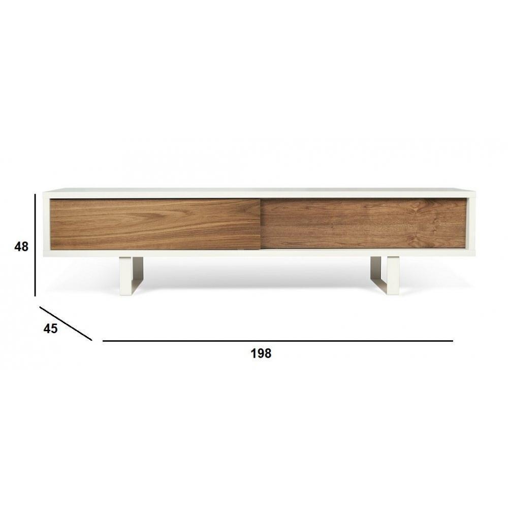 Meubles Tv Meubles Et Rangements Temahome Slide Meuble Tv Design  # Meuble Tv Noyer Design