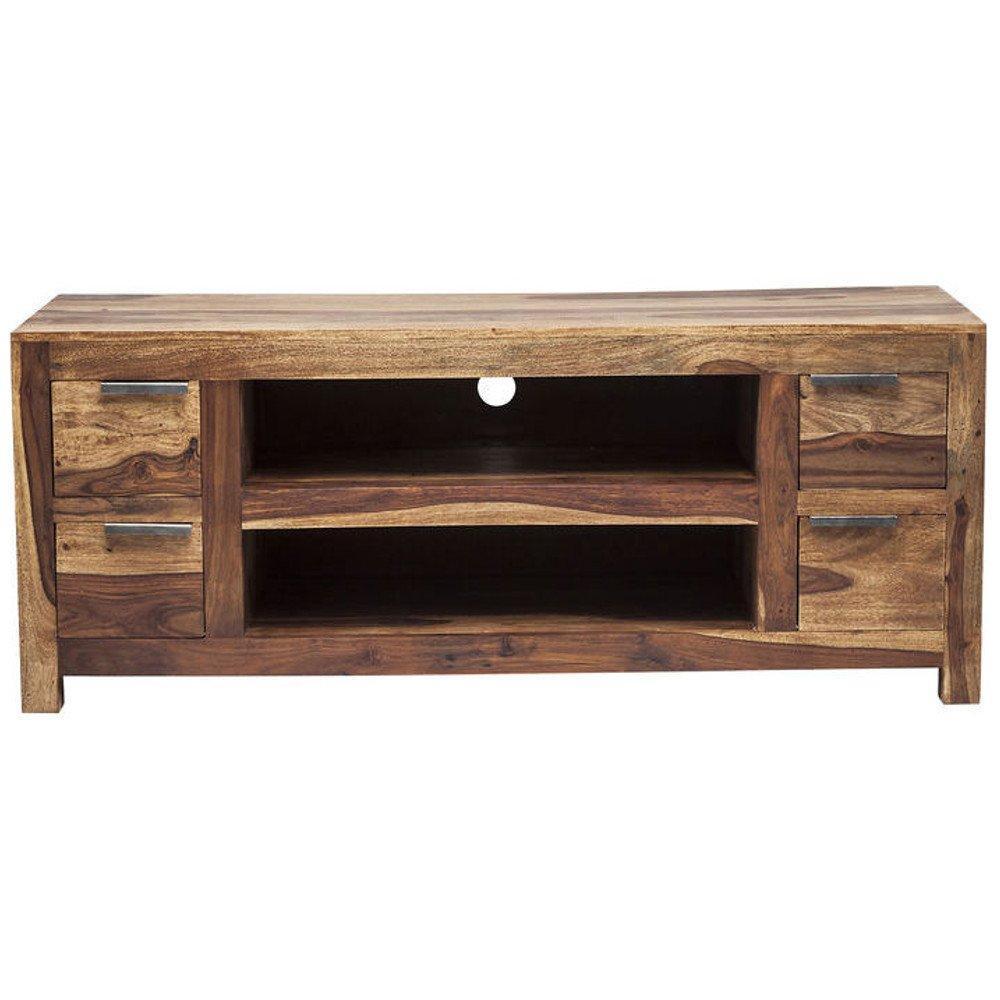 meubles tv meubles et rangements meuble tv wood 4 tiroirs en bois massif inside75. Black Bedroom Furniture Sets. Home Design Ideas